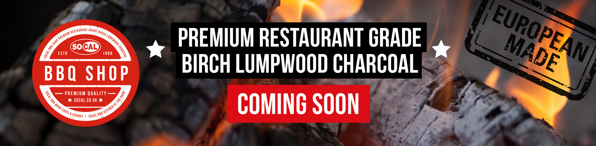 BBQ shop premium charcoal coming soon