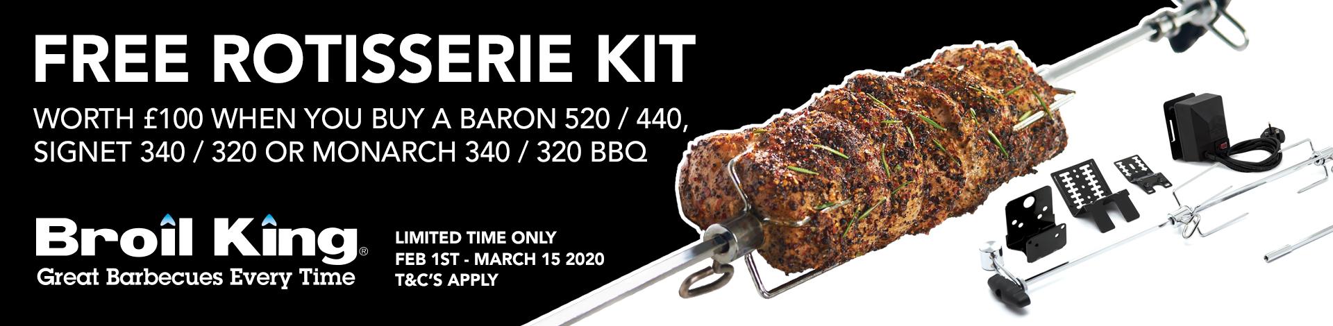 Broil King Free Premium Rotisserie Kit