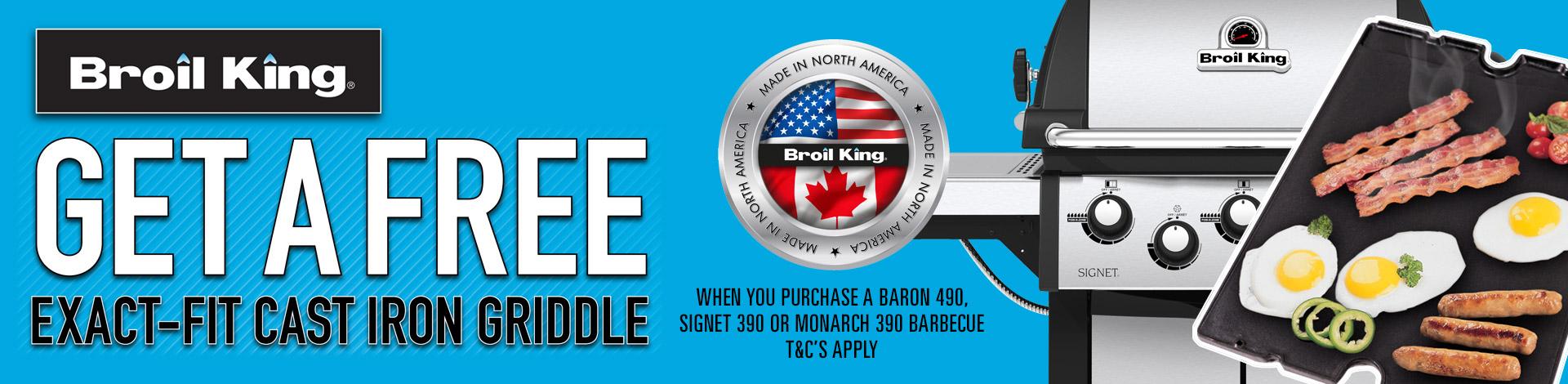 Broil King free griddle offer