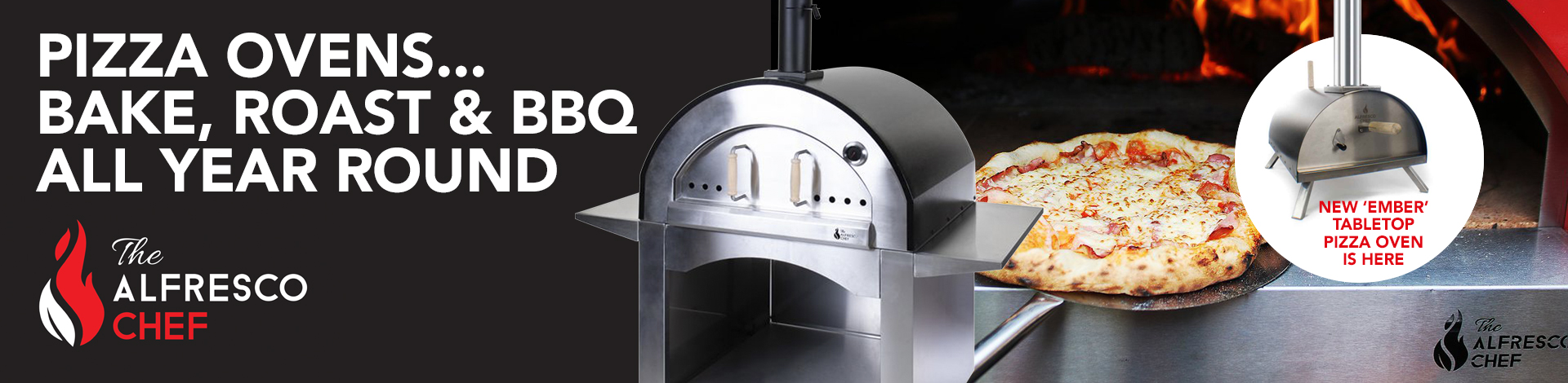 Alfresco Chef pizza ovens all year round