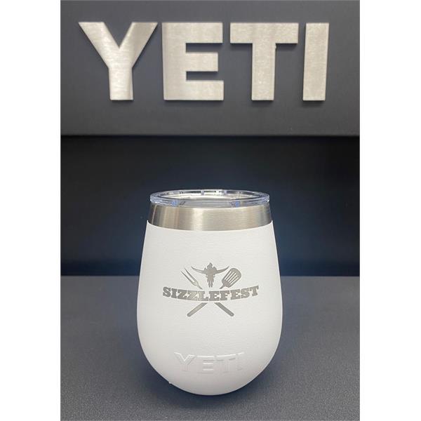 Sizzlefest Yeti 10oz Wine Tumber - White Image 1