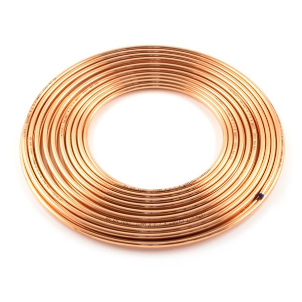 1/4 x 1Mtr Copper Pipe BS EN12449 or EN1057 Image 1