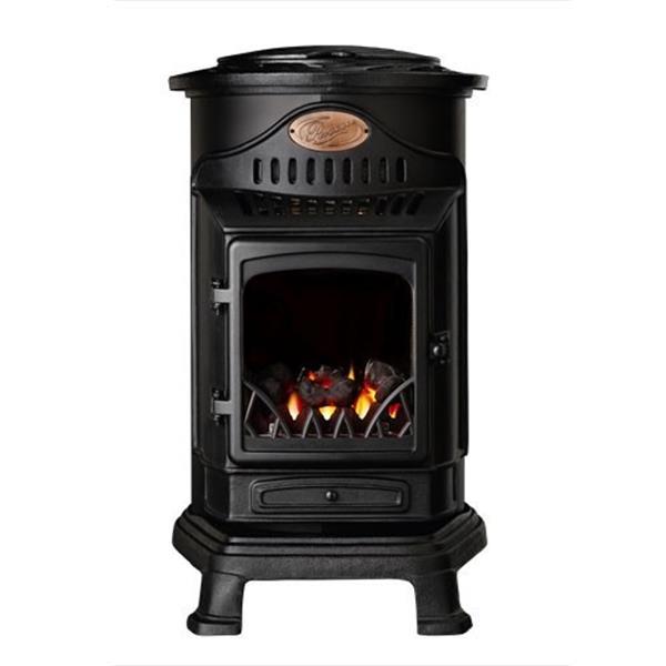 Provence Calor Real Flame Effect 3.4kW Matt Black Gas Heater Image 1