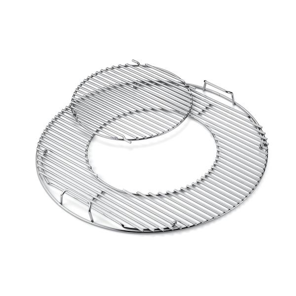 Weber Chrome Gourmet Barbecue System 57cm Hinged Cooking Grate Image 1