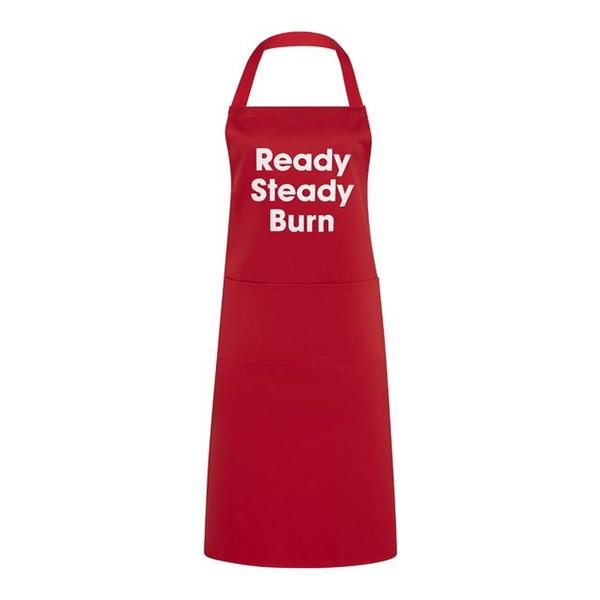 Ready Steady Burn Red Apron Image 1