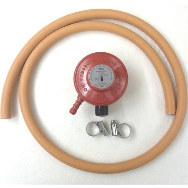 Propane Regulator (27mm Clip On) & Hose Kit Image 1