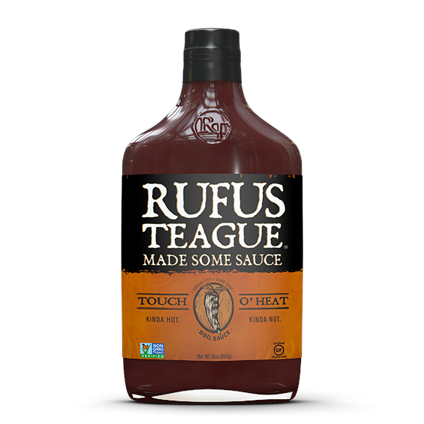 Rufus Teague Touch O Heat BBQ Sauce 453g Image 1