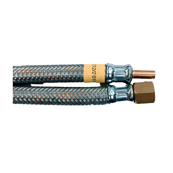 Armoured Cooker Hose 3/8 SAE x 8mm Standpipe (1000mm) for Force 10 Cookers Image 1