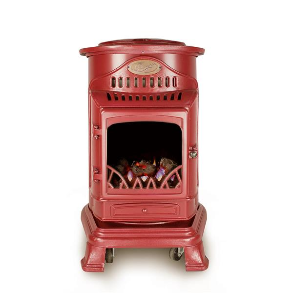 Provence Calor Real Flame Effect 3.4kW Red Gas Heater Image 1