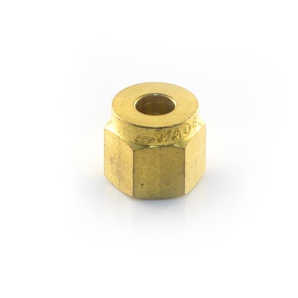 Wade 1005 5/16 Brass Compression Nut Image 1