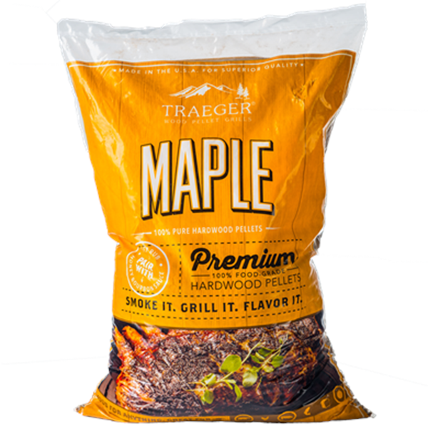 Traeger Maple Wood Pellets (20lb) Bag Image 1