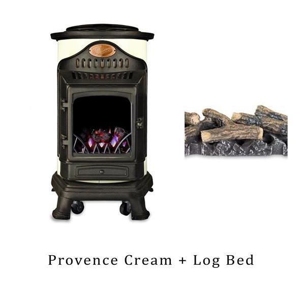 Provence Heater Cream & Log Bed Image 1