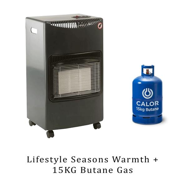 Lifestyle Seasons Warmth Grey 4.2kw Radiant Portable Gas Heater & 15kg Butane Image 1