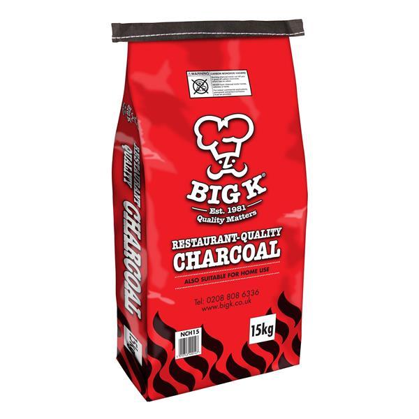 Big K 15kg Bagged Restaurant Grade Charcoal Image 1