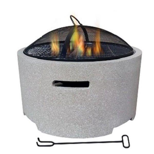 Lifestyle Adena Round MGO Firepit Image 1