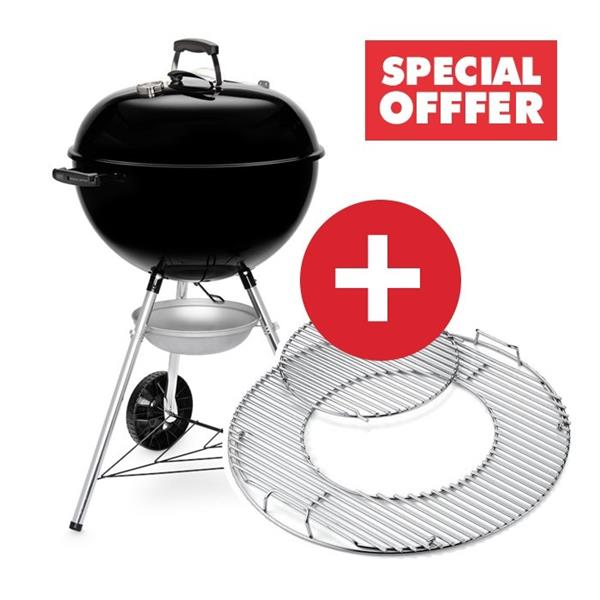 Weber Original Kettle E-5710 Charcoal BBQ Includes FREE GBS Hinged Cooking Grate Image 1
