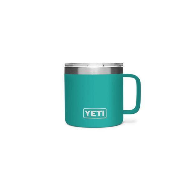 Yeti Rambler 14oz Mug - Aquifer Blue Image 1