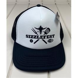 Sizzlefest Trucker Hat - Black & White thumbnail