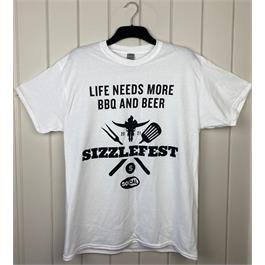 Sizzlefest Beer & BBQ T-shirt - XXL thumbnail