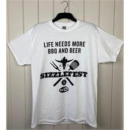 Sizzlefest Official BBQ & Beer T-shirt thumbnail