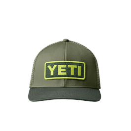 Yeti Logo Badge 60/40 Trucker - Olive/Forest thumbnail