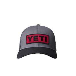 Yeti Logo Badge Low pro 60/40 Trucker -Black/Red thumbnail