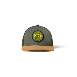 Yeti Logo Trapping License Trucker - Olive/Gold thumbnail