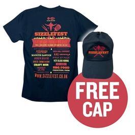 Sizzlefest Official Festival 2021 T-shirt & Free Baseball Cap thumbnail