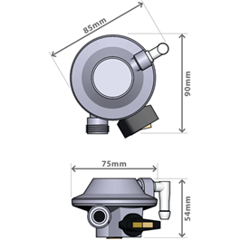 GasBoat 4001 Marine Clip-on Regulator  BS EN 16129 Annex M Thumbnail Image 3
