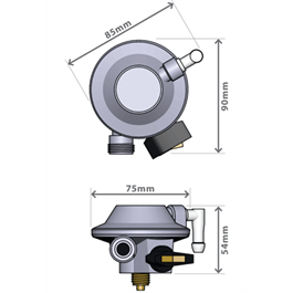 GasBoat 4005 Marine Gaz Regulator BS EN 16129 Annex M Thumbnail Image 2