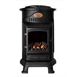 Provence Calor Real Flame Effect 3.4kW Matt Black Gas Heater thumbnail