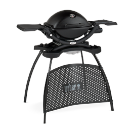 Weber Q1200 Black BBQ with Stand Thumbnail Image 2