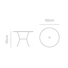 Kettler Round 110cm Mesh Table Thumbnail Image 1