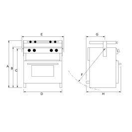 Leisure Products Voyager 4500 Marine Gas Cooker Thumbnail Image 1