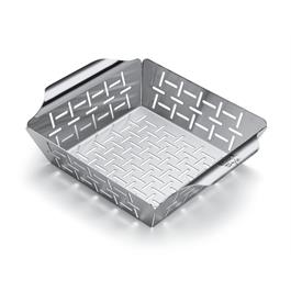 Weber Deluxe Stainless Steel Small Grilling Basket thumbnail