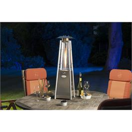 Lifestyle Chantico 3kW Table Top Stainless Steel Flame Heater  Thumbnail Image 1