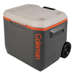 Coleman 50QT Grey & Orange Wheeled Cooler thumbnail