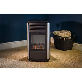 Portable Manhattan Real Flame Effect 3.4kW Living Flame Gas Heater Thumbnail Image 2