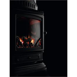 Provence Real Flame Effect 3.4kW Matt Black Gas Heater Thumbnail Image 3
