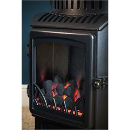 Provence Real Flame Effect 3.4kW Matt Black Gas Heater Thumbnail Image 1