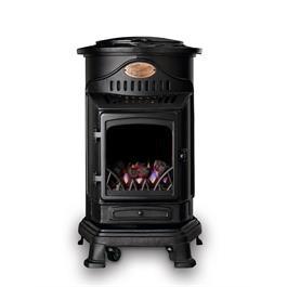 Provence Real Flame Effect 3.4kW Matt Black Gas Heater Thumbnail Image 0