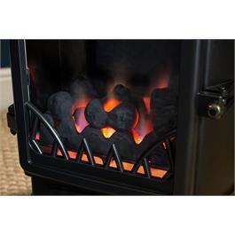 Provence Real Flame Effect 3.4kW Matt Black Gas Heater Thumbnail Image 2