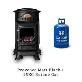 Provence Heater Matt Black & 15kg Butane Cylinder thumbnail