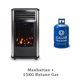 Manhattan 3,4kW Living Flame Heater & 15kg Butane Cylinder thumbnail