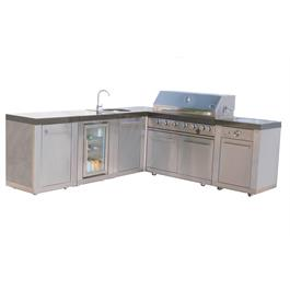 Mont Alpi 6 Burner Build-In Outdoor Kitchen  Thumbnail Image 0