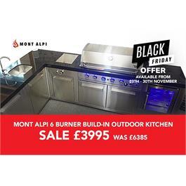 Mont Alpi 6 Burner Build-In Outdoor Kitchen RRP £6385 NOW £3995 thumbnail