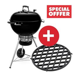 Weber Master-Touch Black E-5750 Charcoal Grill Includes FREE GBS Sear Grate!  thumbnail