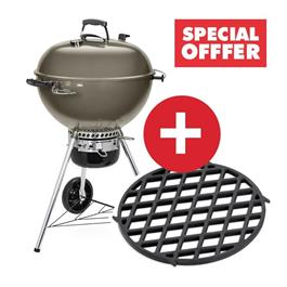 Weber Master-Touch Smoke Grey E-5750 Charcoal Grill Includes FREE GBS Sear Grate thumbnail