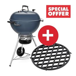 Weber Master-Touch Slate Blue E-5750 Charcoal Grill Includes FREE GBS Sear Grate thumbnail
