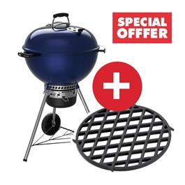 Weber Master-Touch Deep Ocean Blue C-5750 Charcoal Grill Includes FREE GBS Sear  thumbnail